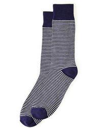 Unsimply Stitched Sailor Stripe Crew Socks