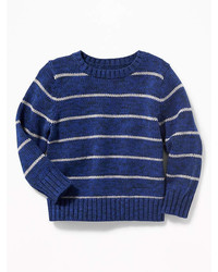 Old Navy Striped Crew Neck Sweater For Toddler Boys