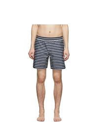 Wood Wood Navy And Off White Roy Swim Shorts