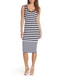 MICHAEL Michael Kors Mixed Stripe Rib Sweater Dress