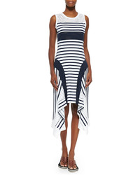 Jean Paul Gaultier Sport Stripe Handkerchief Hem Tank Dress