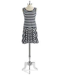 DKNY Stripe Flare Dress