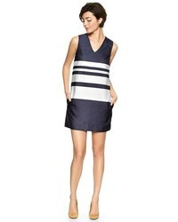 Gap Stripe V Neck Dress