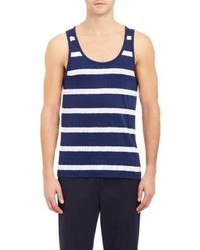 Navy and White Horizontal Striped Tank