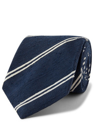 Navy and White Horizontal Striped Tie