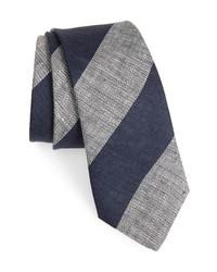 Brunello Cucinelli Stripe Linen Tie