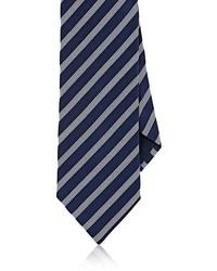 Barneys New York Striped Silk Cotton Necktie