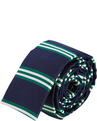 Barneys New York Striped Square Bottom Tie