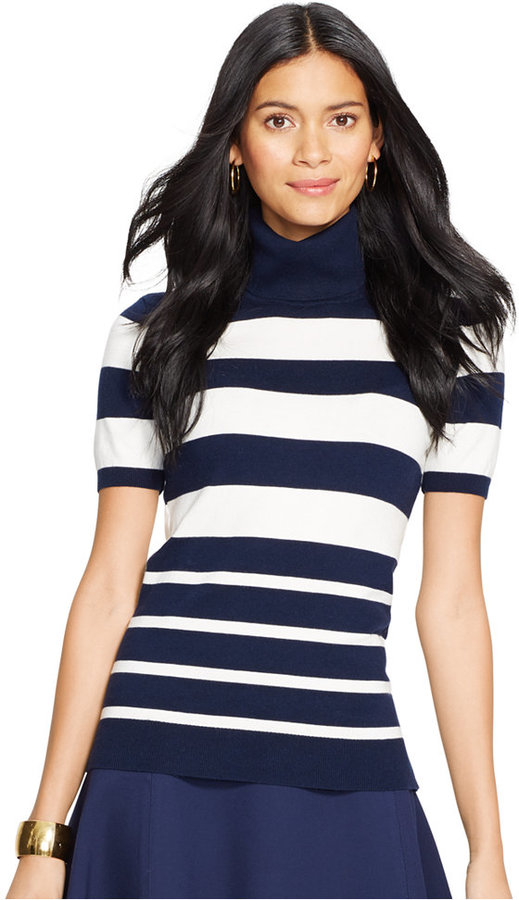 5afc2778822 ... Lauren Ralph Lauren Petite Striped Turtleneck Sweater