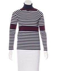 Tory Sport Striped Turtleneck Top