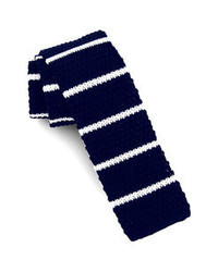 Navy and White Knit Tie