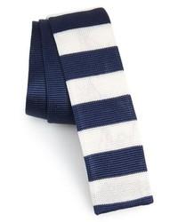 BOSS Stripe Knit Silk Skinny Tie