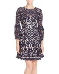 Eliza J Bell Sleeve Fit Flare Dress