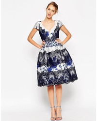 Asos Collection Placed Porcelain Prom Dress