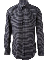 Navy and White Long Sleeve Shirt