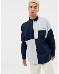 ASOS DESIGN Oversized Oxford Shirt In Cut Sew