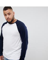 ASOS DESIGN Plus Long Sleeve T Shirt With Contrast Raglan Sleeves