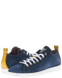 DSquared 2 Baquette Denim Low Top Trainer Lace Up Caual Shoe