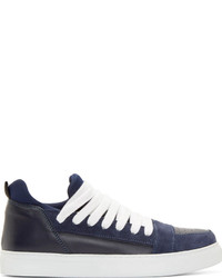 Krisvanassche navy suede leather skate sneakers medium 278729