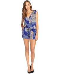 Navy and White Paisley Playsuit