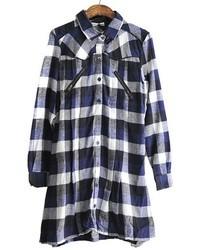 Chicnova collared plaid dress medium 30702