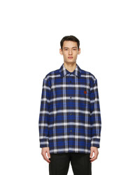 Acne Studios Blue Plaid Over Shirt