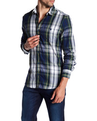 14th union flannel woven trim fit shirt medium 6844722