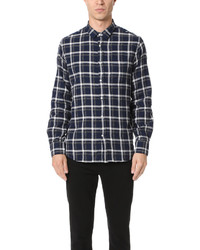 Officine Generale Lipp Shirt Japanese Plaid Twill