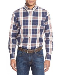 Nordstrom Shop Regular Fit Plaid Sport Shirt