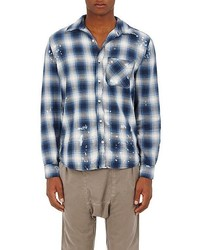 NSF Paint Splatter Plaid Cotton Shirt