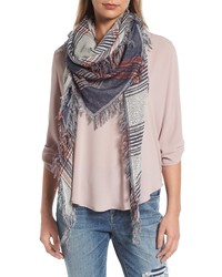 BP. Bp Dual Plaid Triangle Scarf