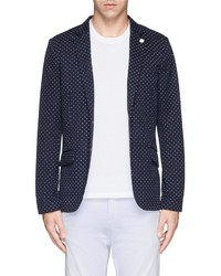 Polka dot cotton piqu blazer medium 193320