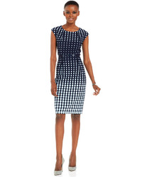 Ombre dot print belted sheath medium 281789