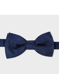 Paul Smith Navy Polka Dot Silk Bow Tie