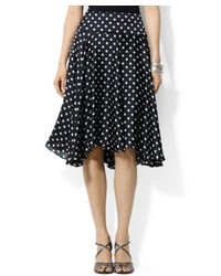 Lauren Ralph Lauren Polka Dot Silk Skirt