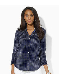 34 sleeve polka dot dress shirt medium 92974