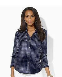 Petite polka dot dress shirt medium 92960