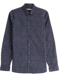 Printed cotton linen shirt medium 412750
