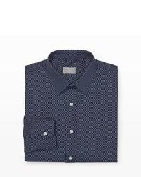 Slim fit polka dot dress shirt medium 185393