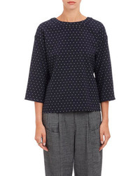 Thakoon Addition Drape Back Polka Dot Top
