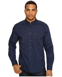 Ben Sherman Long Sleeve Classic Polka Dot Shirt Clothing