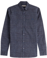 Burberry Printed Cotton Linen Shirt