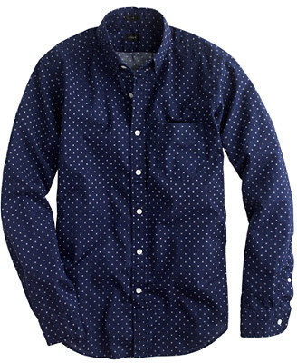 J.Crew Secret Wash Shirt In Cross Square Print | Where to buy ...