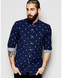 Farah Shirt With Polka Dot Slim Fit