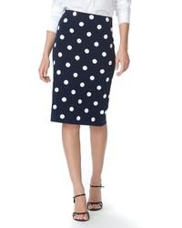 Chaps Polka Dot Pencil Skirt