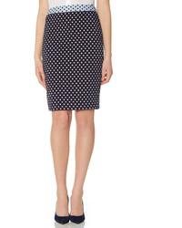 The Limited High Waist Dot Pencil Skirt