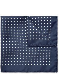 Emma Willis Polka Dot Printed Silk Pocket Square