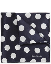 30a710c42c302 Men's Navy and White Polka Dot Pocket Squares by Paul Smith | Men's ...
