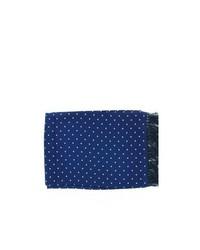 Michelsons of london polka dot broad silk scarf navy medium 113792
