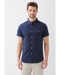 21men 21 Dot Print Oxford Shirt | Where to buy & how to wear